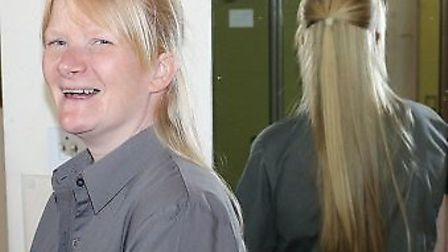 Kelly Dasivla, a post room porter at the Queen Elizabeth Hospital in King's Lynn, will cut her hair