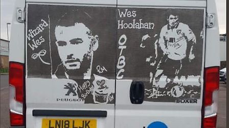 Ruddy Muddy celebrates Wes Hoolahan's last game for Norwich City