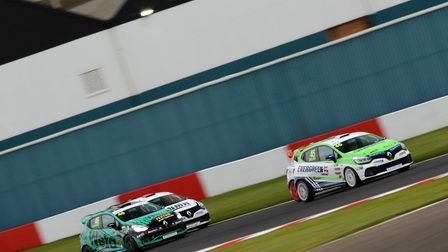 Dan Zelos making progress after his early spin in race two of the Renault UK Clio Cup at Donington P