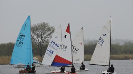 Action from Horning Sailing Club at the weekend. Picture: Holly Hancock
