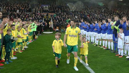 Wes Hoolahan bowed out from Norwich City in a 2-1 Championship win over Leeds United. Picture: Paul