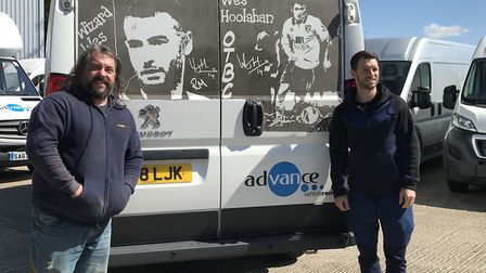 Wes Hoolahan meets his Ruddy Muddy creation. Picture Advanced Vehicle Rental.