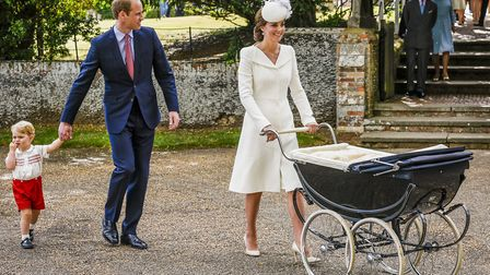 No more one parent per child, as seen here at Princess Charlotte's christening at Sandringham. Pictu