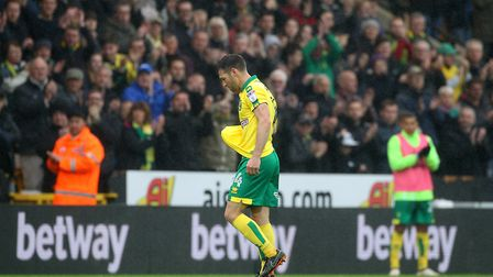 Wes Hoolahan had the perfect send-off at Carrow Road on Saturday. Picture: Paul Chesterton/Focus Ima