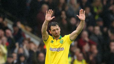 Emotions all round as Wes Hoolahan of Norwich leaves the Carrow Road pitch for the very last time du
