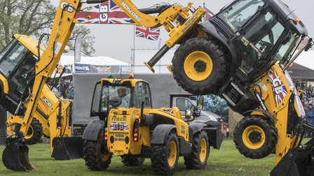 The 2018 East Anglian Game and Country Fair taking place on the Euston Estate. The JCB Dancing Digge