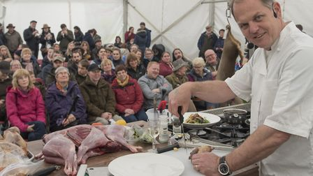 The 2018 East Anglian Game and Country Fair taking place on the Euston Estate. Chef Chris Coubrough