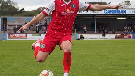 Cameron Norman's runs down the right flank are a potent weapon for the Linnets. Picture: Geoff Moore