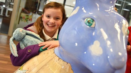 Holly Hare by artist Paul Jackson is revealed. It was designed by Holly McKennaByline: Sonya DuncanC