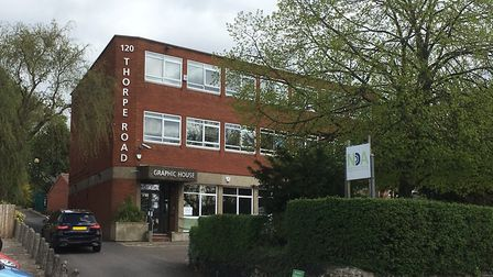 Graphic House in Norwich, which currently homes Norfolk Deaf Association.Picture: David Hannant