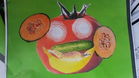 Artwork created as part of a special week at Aslacton Primary and Manor Farm Infant schools. Picture
