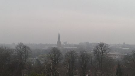 Smog over Norwich in 2014. Photo: Mike Newman/citizenside