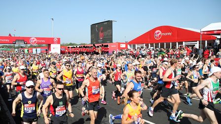 You can enter the ballot for the London Marathon from Monday. Picture: PA
