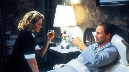 Kathleen Turner and William Hurt in The Accidental Tourist. Photo: Warner Brothers