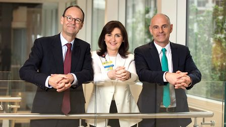 From left, Mike Coupe, chief executive of J Sainsbury, Judith McKenna, president and chief executive