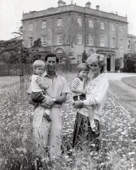The Prince and Princess of Wales with their children. Photo: Archant Library
