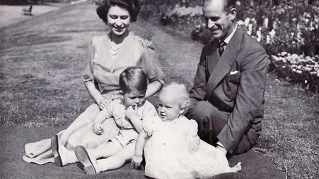 The Quen, then Princess Elizabeth, Prince Philip, Prince Charles and Princess Anne in 1951. Photo: A