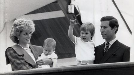Charles, the family man, aboard Britannia in 1985 when he and the Princess of Wales were reunited wi