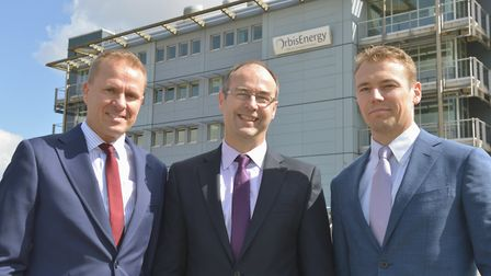 Peterson has opened a new office at OrbisEnergy in Lowestoft. From left, BD manager Sander van Helvo