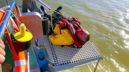 Goodchild Marine has developed a man overboard recovery platform. Picture: Alan Goodchild Photograph
