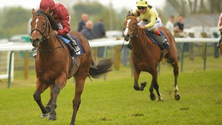 Legends Of War wins the first race at Great Yarmouth, with jockey Oisin Murphy Picture: DENISE BRADL