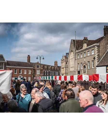 A busy market at Saturday Market Place, King's Lynn Picture: Courtesy of Discover King's Lynn