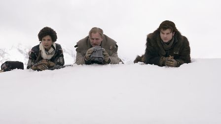 Thandie Newton as Val, Woody Harrelson as Beckett and Alden Ehrenreich as Han Solo in Solo: A Star W