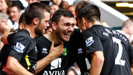 Robert Snodgrass joined Norwich City from Leeds in 2012. Picture: Andrew Tobin/Focus Images Ltd