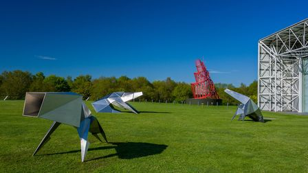 Lynn Chadwick's Beasts at the Sainsbury Centre for Visual Arts, courtesy of the Estate of Lynn Chadw