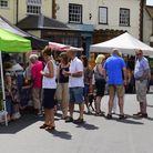 Stalls in the high street at Reepham Food Festival. Photo: RICHARD COOKE