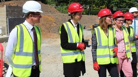 From left: William Bishop, Lady Rose Hanbury, Sam Loveday, EACH Director of Income Generation, Jane