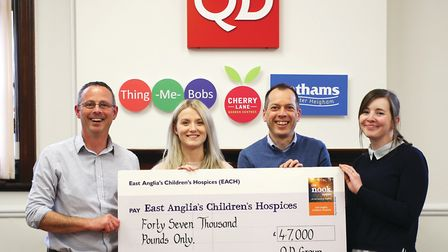 QD Groups latest 47,000 donation for EACH brings the total raised by the company to more than 101,00
