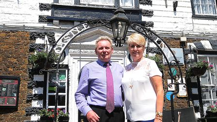 Howard and Helen Fradley, who have run the Castle Hotel in Downham Market for 27 years. Picture: Chr