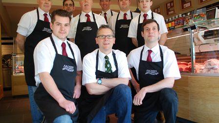 The team at award-winning Archer's Butchers in Norwich Picture: Plain Speaking Agency