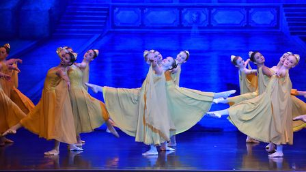 Dress rehearsal for the English Youth Ballet's Cinderella in Hollwood show featuring local young dan