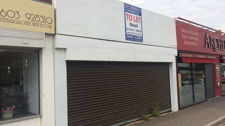 One of the empty units on Plumstead Road. Picture: Andrew Fitchett