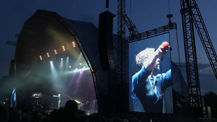 Headliners Kaiser Chiefs perform at Sunday Sessions in Earlham Park, in Norwich. Picture: Danielle B