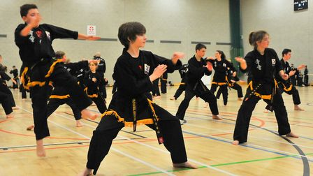 """Kuk Sool Won"""" students at the UEA Sportspark. Picture by Simon Finlay."""