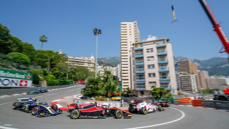 George Russell (car #8 in the centre of the photos) at Monte Carlo. Picture: Joe Portlock / FIA Form