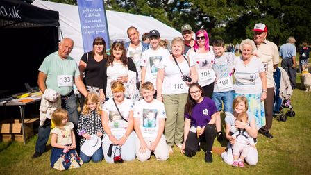 Georgie Boast with her family at last year's Walk of Smiles Photo: Richard Jarmy Photography