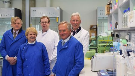 Alan Boswell Group has donated 50,000 to a Big C research project. From left, Prof Colin Cooper, Car