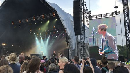 Tom Odell performing at the Sunday Sessions festival in Earlham Park in Norwich. Picture: Danielle B