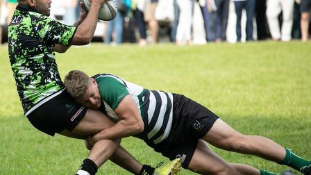 Action from the Dardan Security Sevens at North Walsham. Picture: Hywel Jones