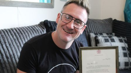 Simon Kindleysides received a letter from the Queen in congratulations for becoming the first paraly