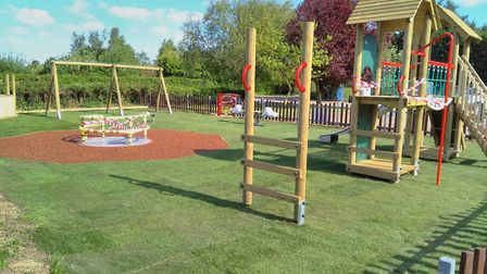 The almost completed Ringsfield and Weston Play Area with freshly laid turf.Pictures: Courtesy of Sa