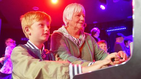 Jennifer Cady with her grandson George Eglington at the 2018 Norwich Gaming Festival.Picture: Nick B