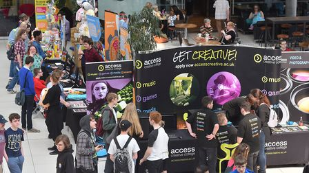 Thousands of people attend the 2018 Norwich Gaming Festival at the Forum. Picture: Nick Butcher