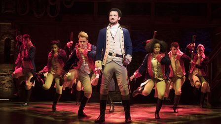 The London production of Hamilton. Pictured is Jamael Westman (Alexander Hamilton) with the West End