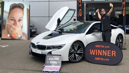 Amanda Lewis, 38, from Tydd Gote, near Wisbech, played the luxury car competition last week at Gatwi