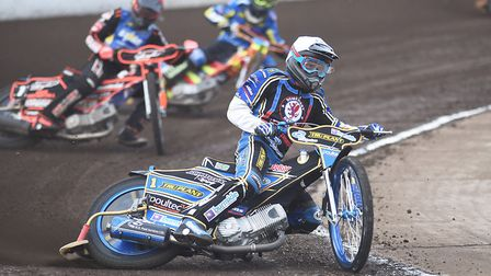 Somerset's world champion Jason Doyle held his nerve to edge out King's Lynn Stars. Picture: Ian Bur